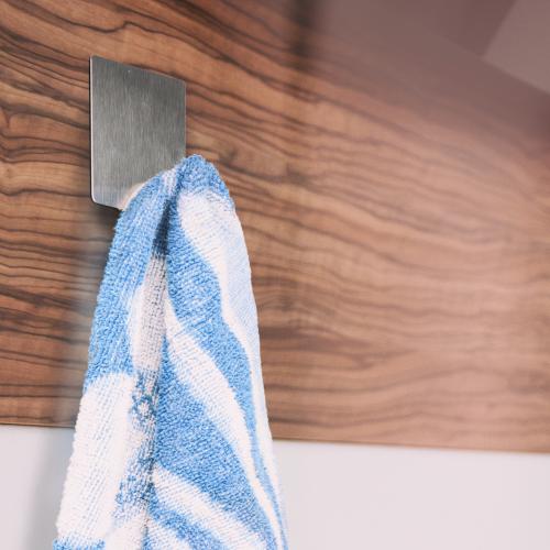 mumbi 8x Handtuchhaken selbstklebend Handtuchhalter Klebehaken Edelstahl Haken