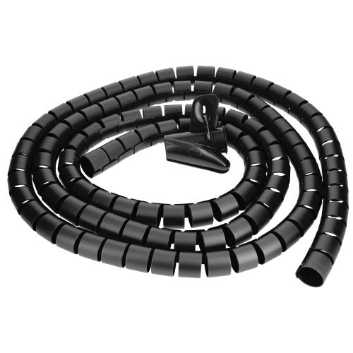2//5M Kabelspirale Spiralband Kabelschlauch Kabelschutz Kabelkanal /& Clip